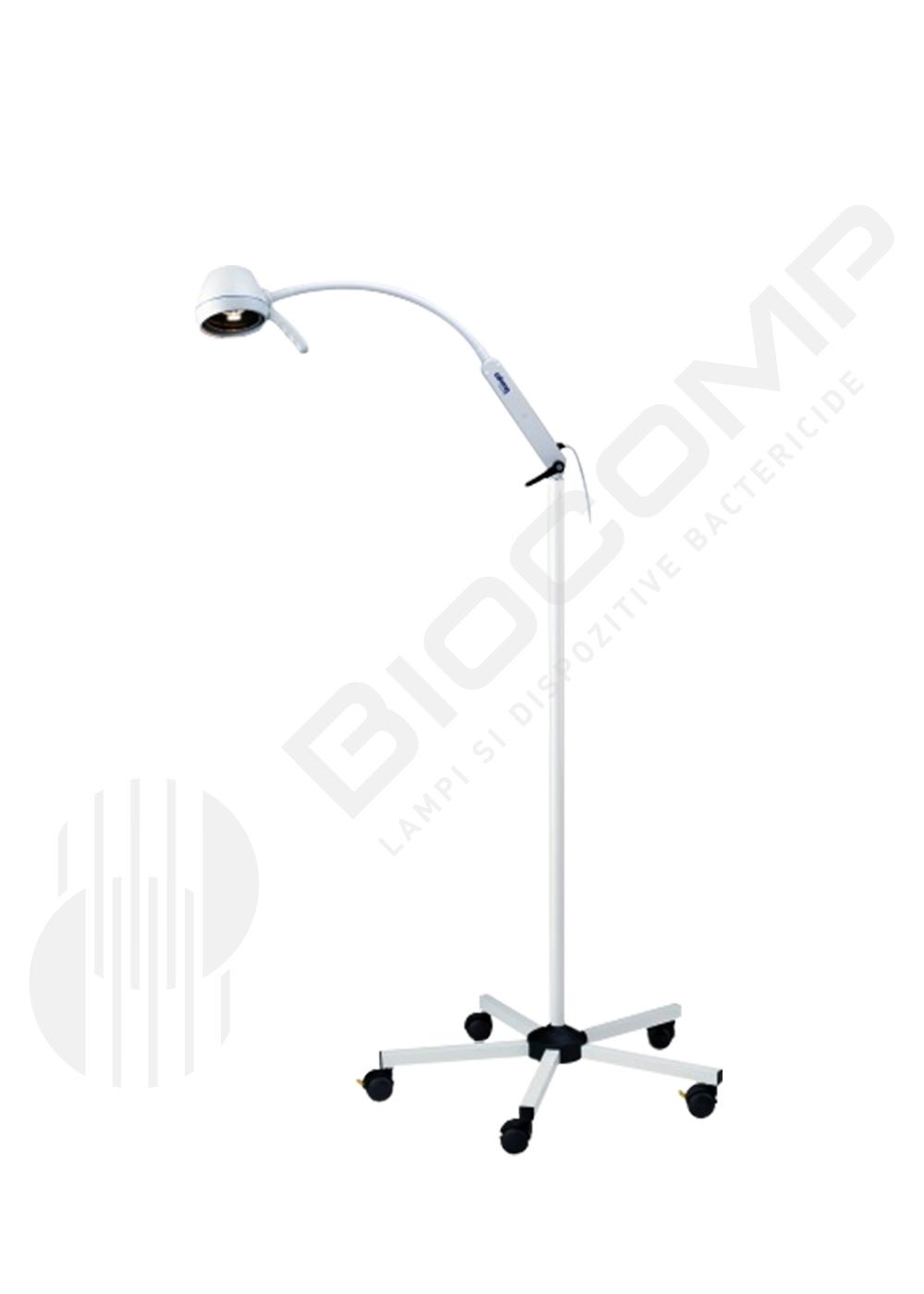 Lampa de examinare cu halogen, brat flexibil si montare pe stativ mobil