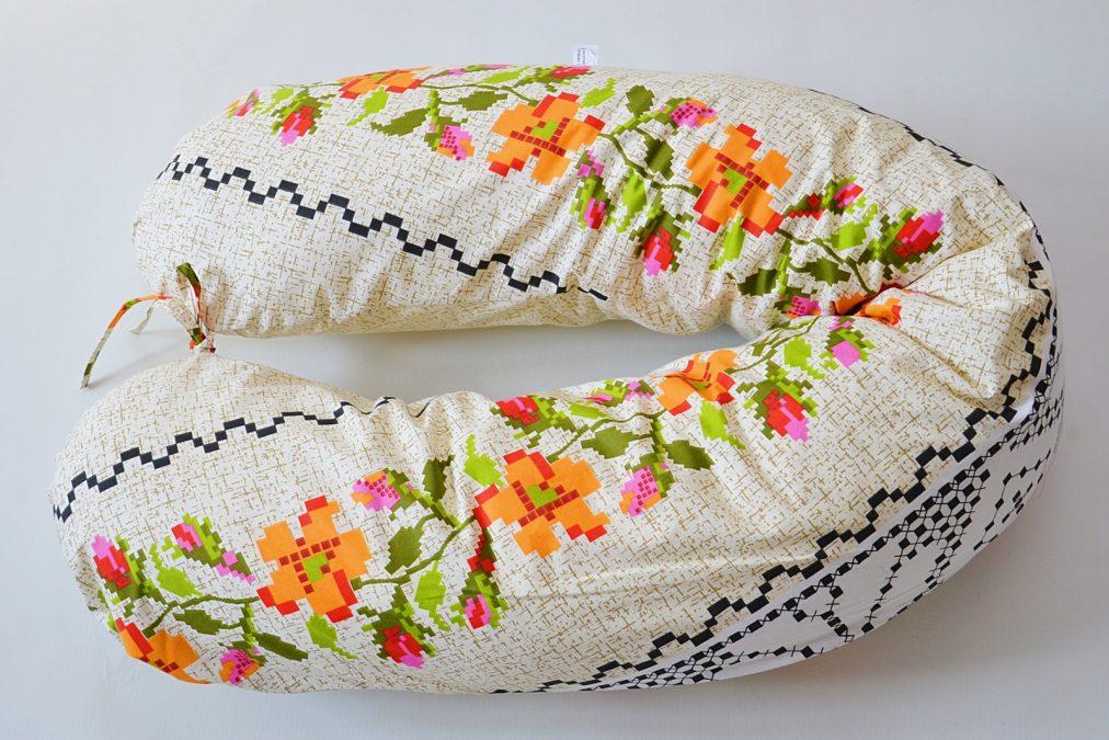 perna  in  sarcina alaptare cu flori portocalii