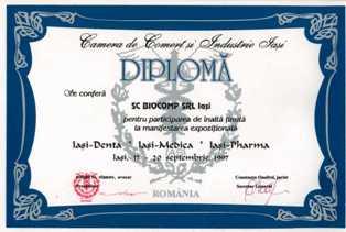 pt site Diploma Camera de Comert Iasi