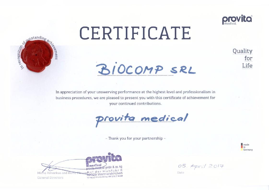 Certificat Provita