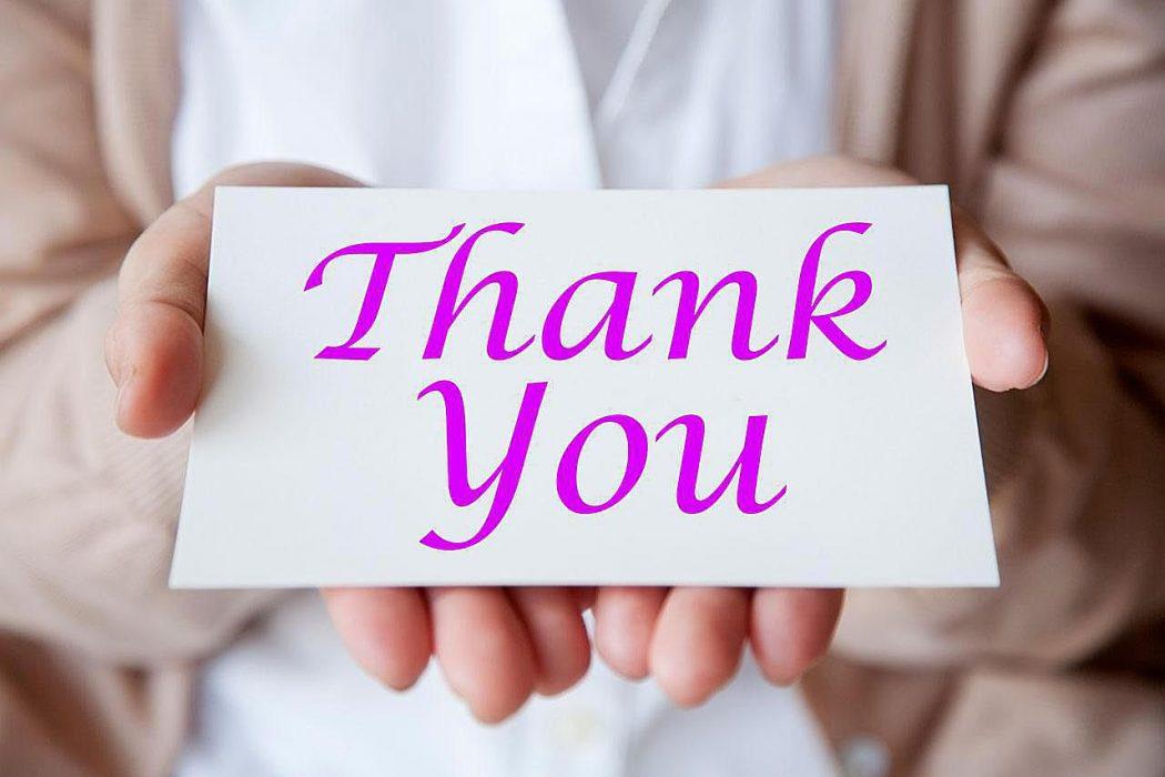 thank you card purple B  abcdfcffb