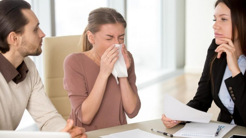 Raceala si gripa la birou