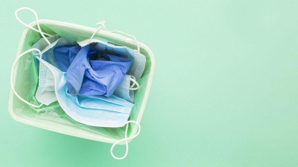 deseurile contaminate se elimina in recipiente speciale
