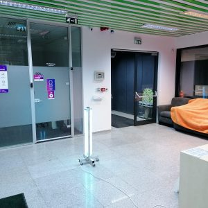 Lampa-dispozitiv de dezinfecție cu lumina ultravioleta UV-C MINI 360 4x15W, cu montare pe cadru mobil