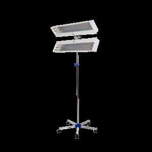 Lampa-dispozitiv de dezinfecție cu lumina ultravioleta UV-C LBA DUPLEX 4x30W, cu montare pe stativ mobil