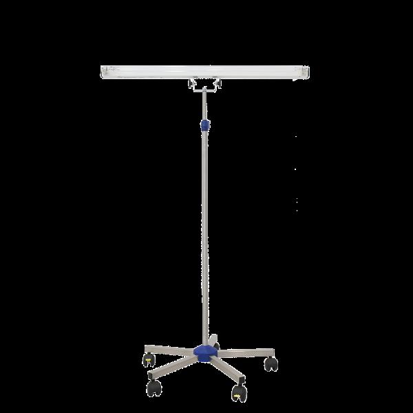 Lampa-dispozitiv de dezinfecție cu lumina ultravioleta UV-C LBA-E 15W, cu montare pe stativ mobil