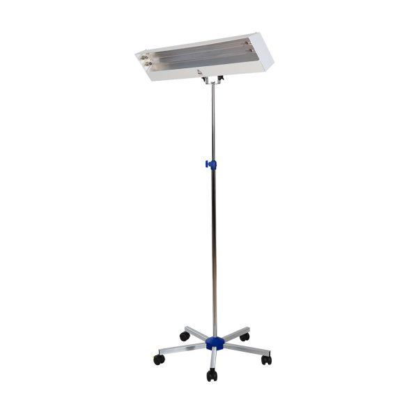 Lampa-dispozitiv de dezinfecție cu lumina ultravioleta UV-C LBA 2x30W, cu montare pe stativ mobil