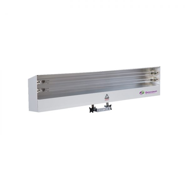 Lampa-dispozitiv de dezinfecție cu lumina ultravioleta UV-C LBA 2x55W, cu montare pe perete