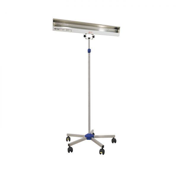 Lampa-dispozitiv de dezinfecție cu lumina ultravioleta UV-C LBA 55W, cu montare pe stativ mobil