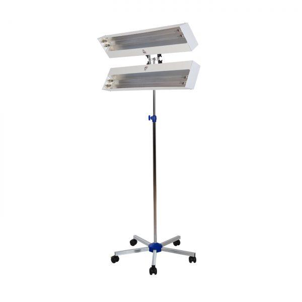 Lampa-dispozitiv de dezinfecție cu lumina ultravioleta UV-C LBA DUPLEX 4x55W, cu montare pe stativ mobil