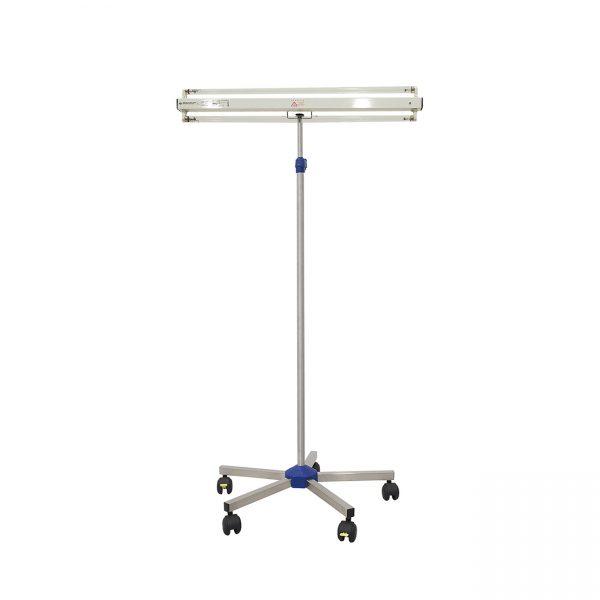 Lampa-dispozitiv de dezinfecție cu lumina ultravioleta UV-C LBA-E 2x55W, cu montare pe stativ mobil