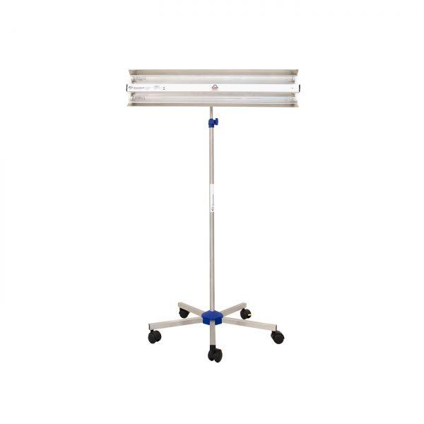 Lampa-dispozitiv de dezinfecție cu lumina ultravioleta UV-C LBA-ER 2x15W, cu montare pe stativ mobil
