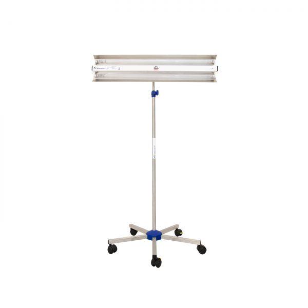 Lampa-dispozitiv de dezinfecție cu lumina ultravioleta UV-C LBA-ER 2x55W, cu montare pe stativ mobil