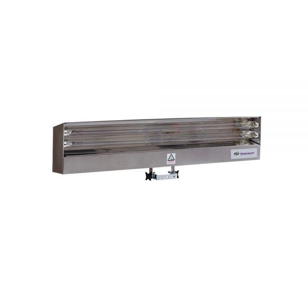 Lampa-dispozitiv de dezinfecție cu lumina ultravioleta UV-C LBAI 2x30W, din inox, cu montare pe perete