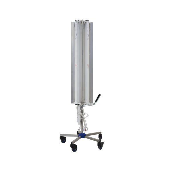Lampa-dispozitiv de dezinfecție cu lumina ultravioleta UV-C SUPER MAXI 360 660W, cu montare pe stativ mobil